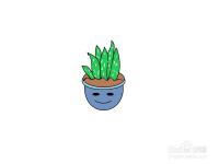 可爱小盆栽的简单画法