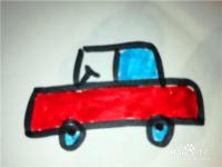 怎么样用简笔画画小汽车
