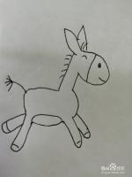 可爱的小驴子怎么画
