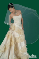 PS抠出透明婚纱更换背景色