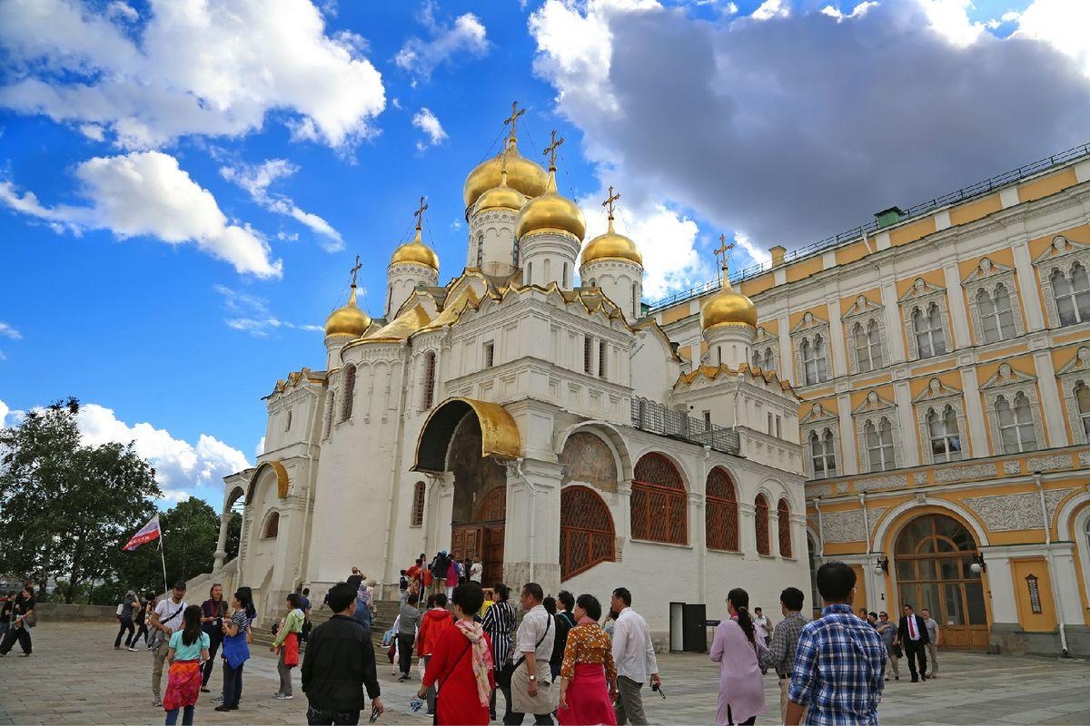 圣母领报大教堂是一座东正教教堂,大教堂广场西南侧,与大克里姆林宫图片