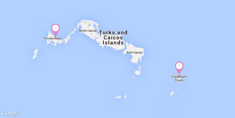 特克斯和凯科斯旅游地图