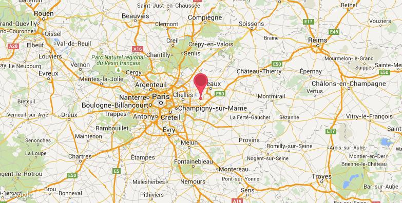 巴黎迪士尼乐园旅游地图