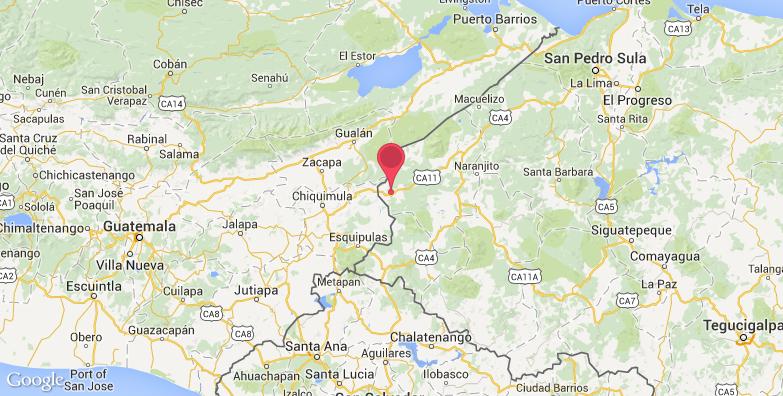 2016最新科潘玛雅遗址旅游地图