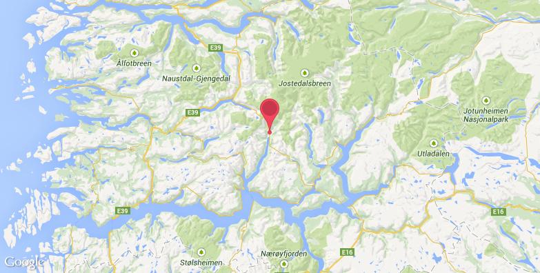 挪威冰川博物馆旅游地图