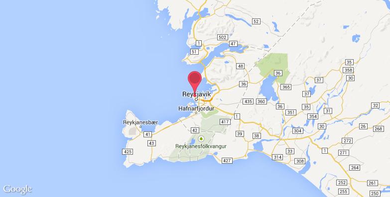 冰岛国家博物馆旅游地图