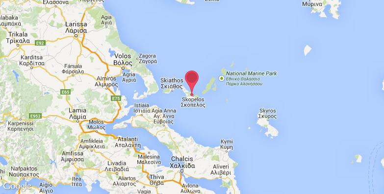 斯波拉泽斯群岛旅游地图