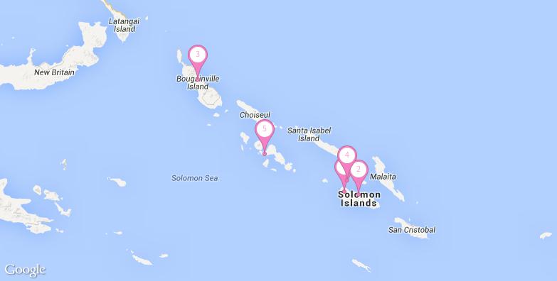 2016最新所罗门群岛旅游地图