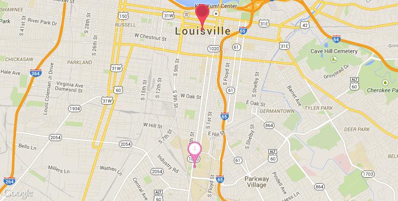 路易斯维尔旅游地图