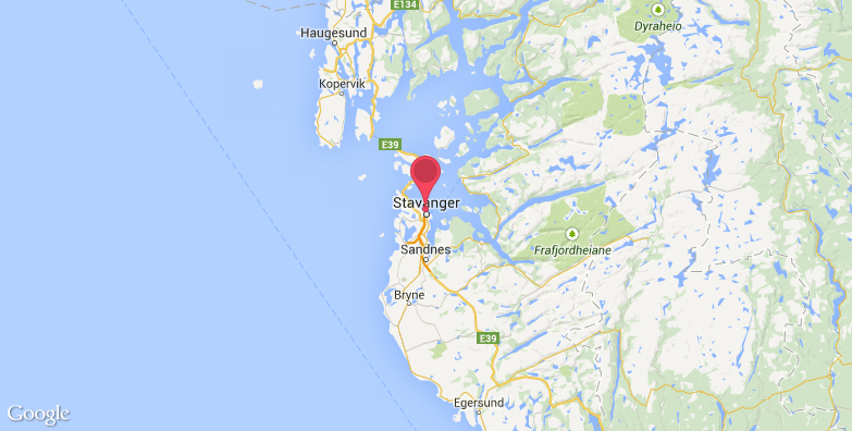 挪威石油博物馆旅游地图
