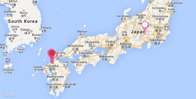福冈旅游地图