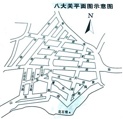 景区地图简笔画可爱版