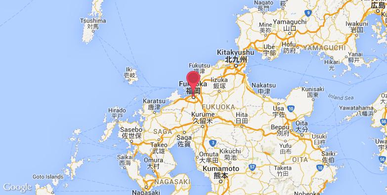 福冈亚洲美术馆旅游地图