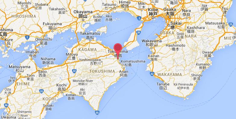 德岛旅游地图