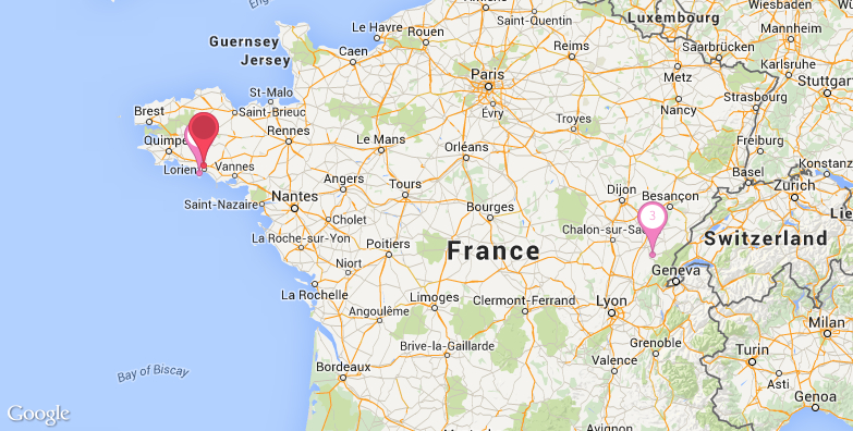 洛里昂旅游地图