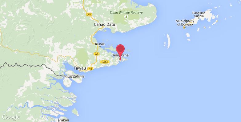 诗巴丹旅游地图