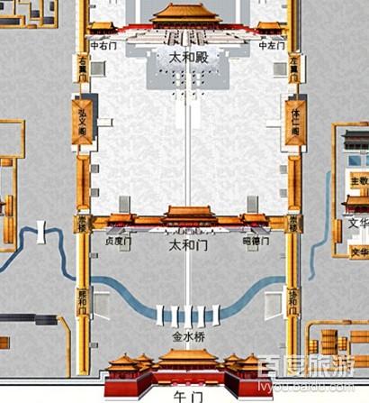 明清故宫手绘平面图
