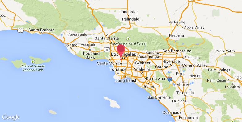 洛杉矶纪念体育场旅游地图