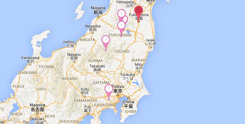 2016最新福岛旅游地图