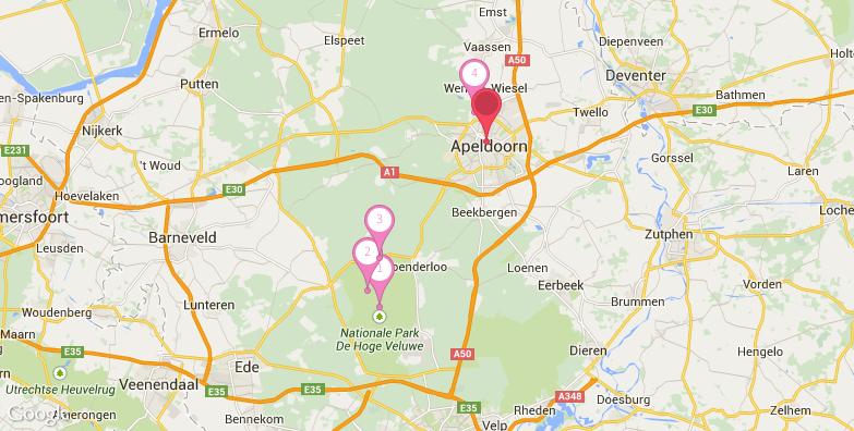 阿培尔顿旅游地图