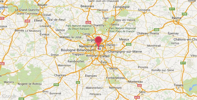 巴黎大学旅游地图