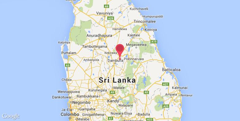 斯里兰卡狮子岩旅游地图