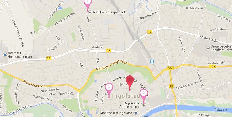 2016最新因戈尔施塔特旅游地图