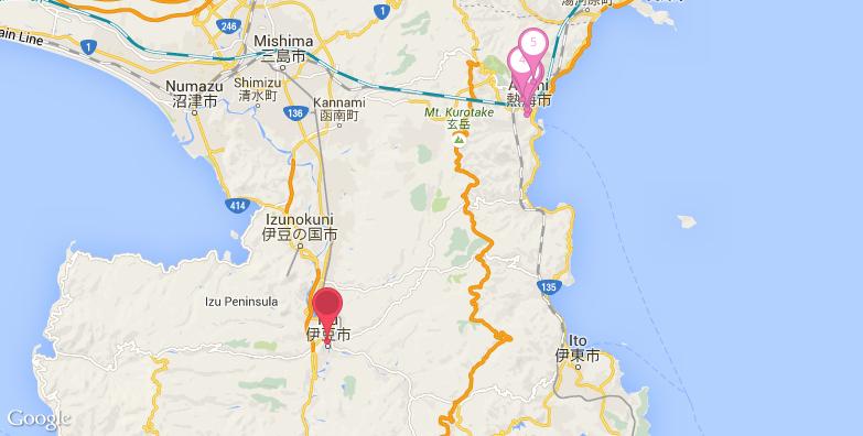 2016最新伊豆旅游地图