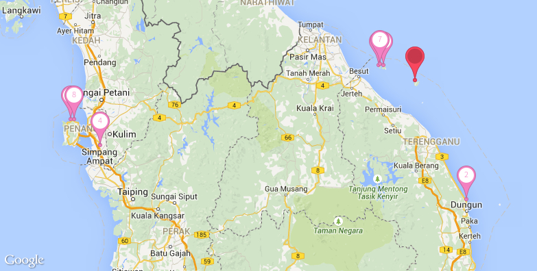 2016最新热浪岛旅游地图