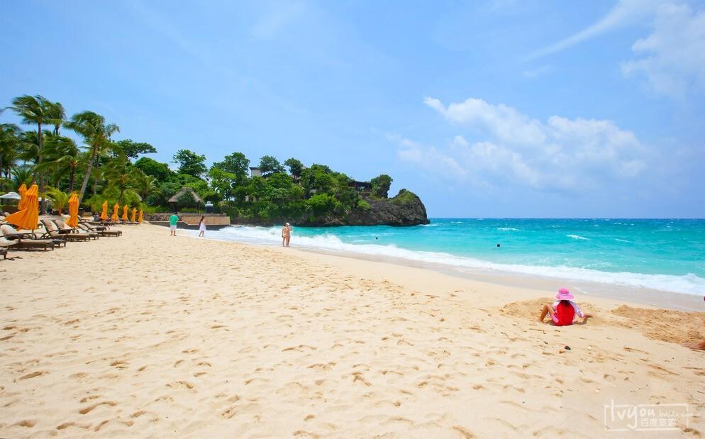 长滩岛最北部的普卡海滩,这里是仅次于白沙滩的第二大海滩,也叫作雅泊