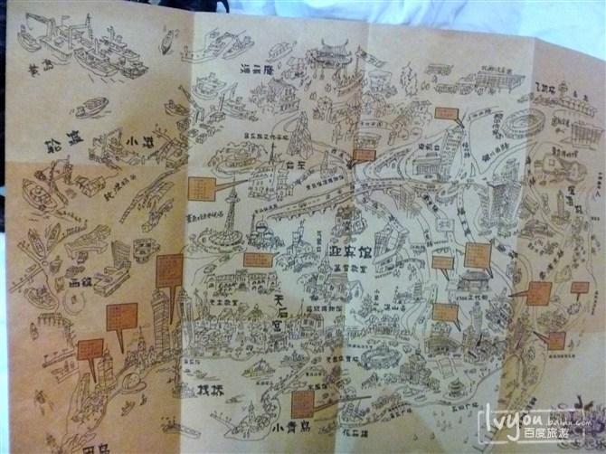 买的青岛手绘地图.