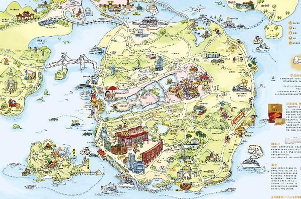 手绘旅游路线图图片