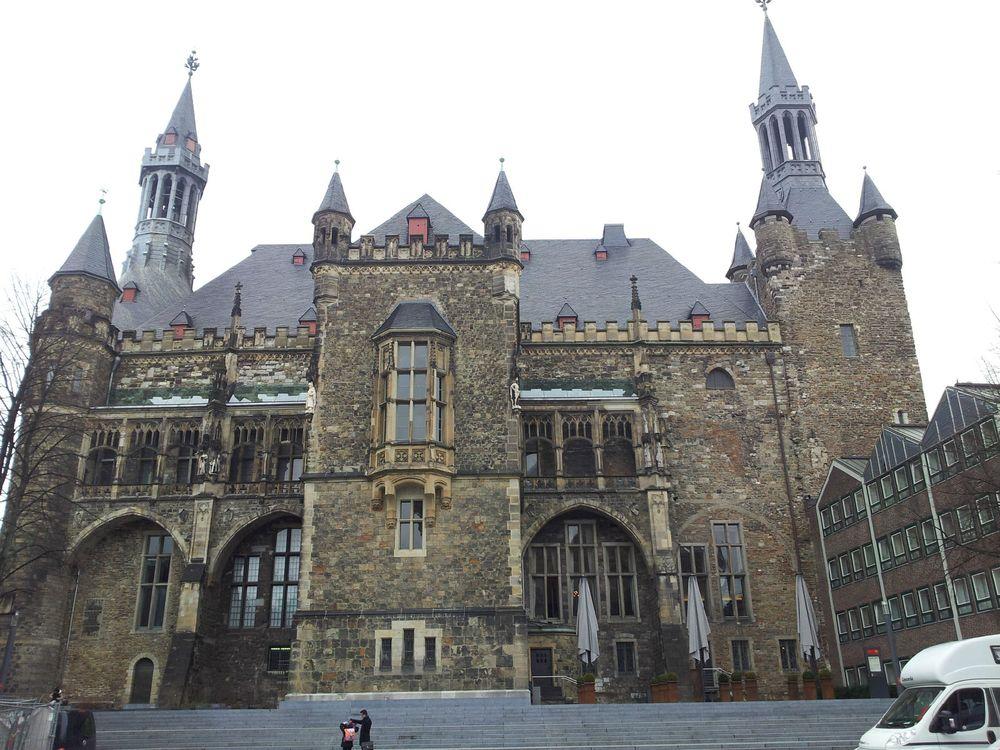 亚琛市政厅 哥特式建筑图片图片