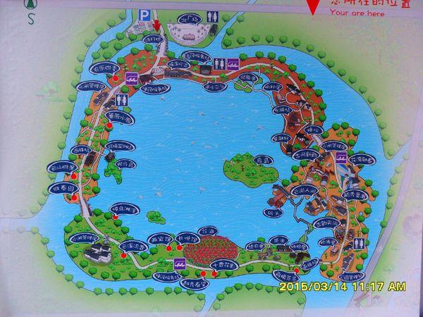 海珠湖卡通地图图片