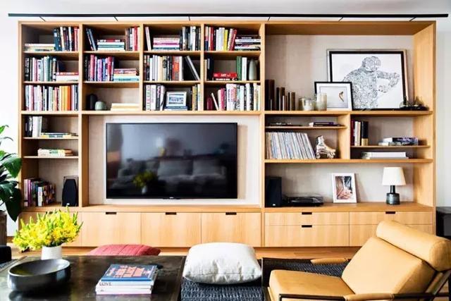 互动问答| 整面墙的书柜有哪些好看的样式?图片