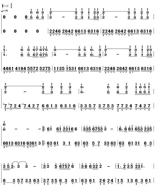 天路 钢琴双手简谱图片