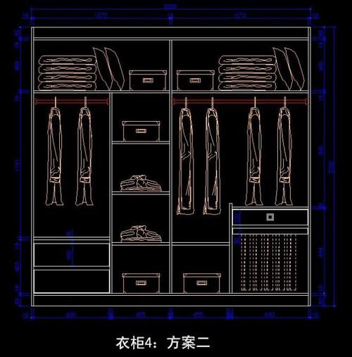 衣柜内部设计图 卧室衣柜内部设计图