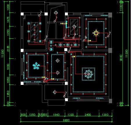 室内设计cad电路图怎么画?