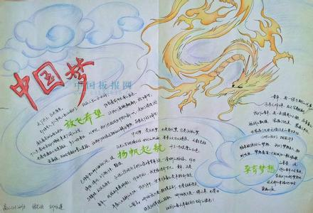中国梦-诠释青春梦想 手抄报 资料内容