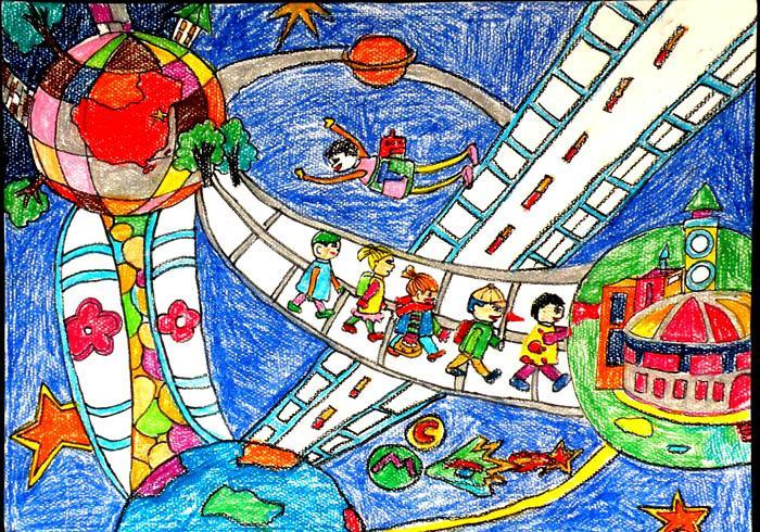 六年级科幻画,怎么画,有急用,图片也行,拜托拜托拜托拜托图片