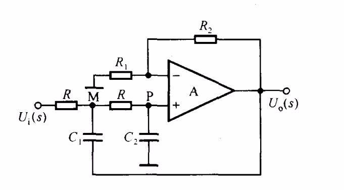 下图二阶rc滤波电路中,电容c1的作用是什么?