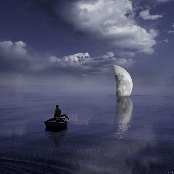 求一张动漫图片,悲伤的,关于大海,草船,一个孤独的少年.就这样.