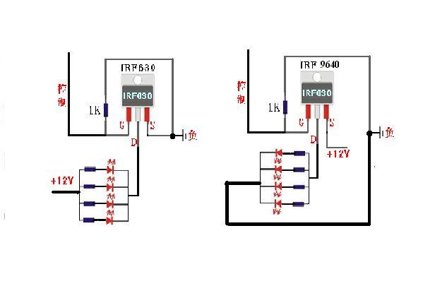 元件可以根据实际电路更换相关阻值,从图中你可以初步了解场效应管做