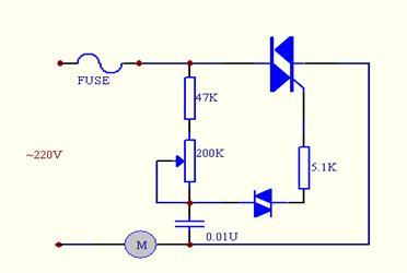 想弄個調速風扇,電機 220v 40w,如圖.
