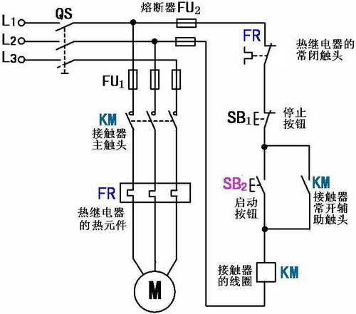 cjx2(nc220v)交流接触器自锁接线图