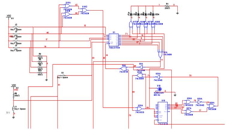 原理:当主持人按下复位开关时,d触发器的清零端为低电平,使d触发器被