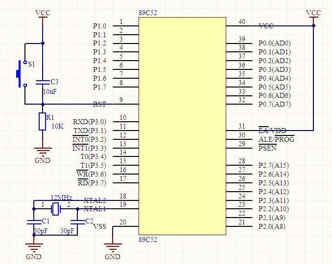 51单片机最小系统可以不接复位电路吗?还有下载电路能