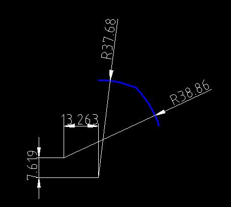 捕捉2个点位,用CAD圆相切已知命令,可v点位圆cad偏线交圆弧相切图片