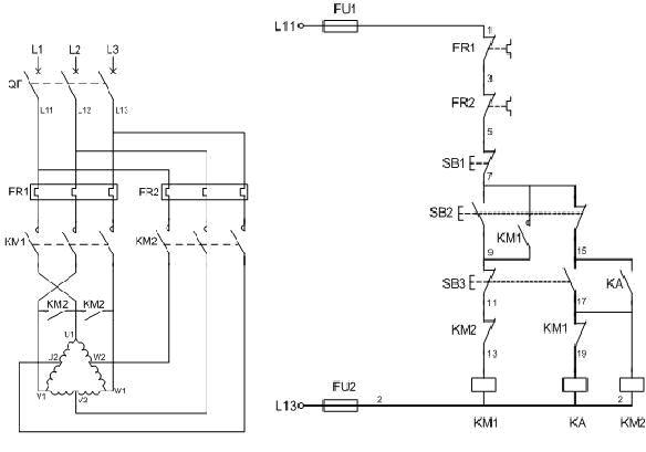 高低速电机接线图