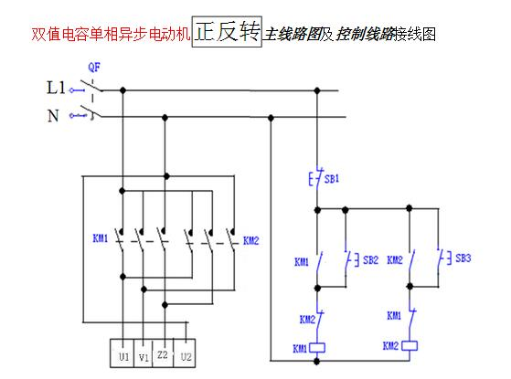 单相双值电容异步电动机怎么正转